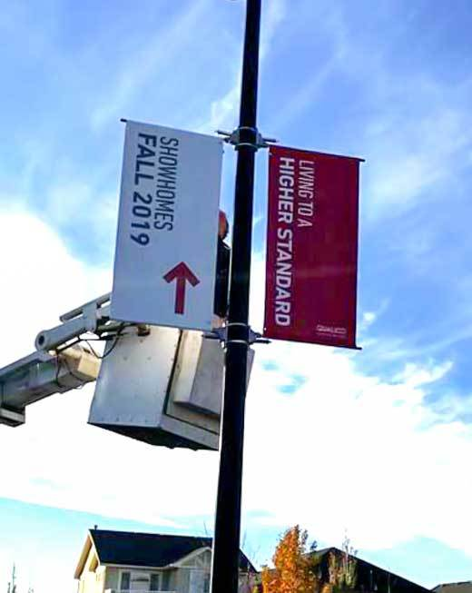 Pole Outdoor signage in Calgary